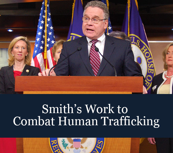 Smith's Work to Combat Human Trafficking